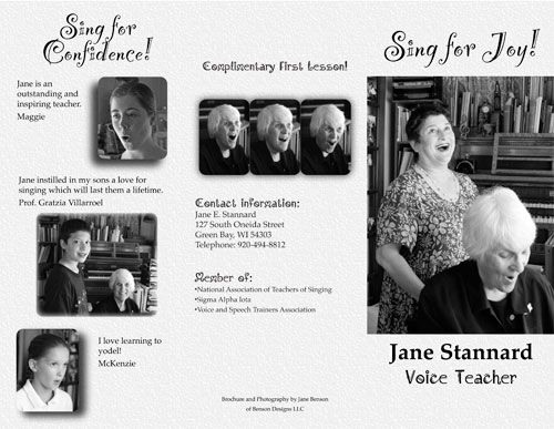 Voice Teacher Brochure