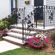 Exterior Railing with Shamrocks