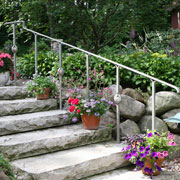 Exterior Railing and Stone Steps
